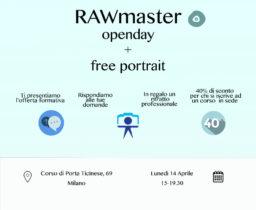 14 Maggio OPEN DAY + FREE PORTRAIT
